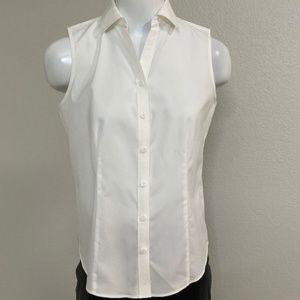 NWT Talbots White Sleeveless Top Size 4P